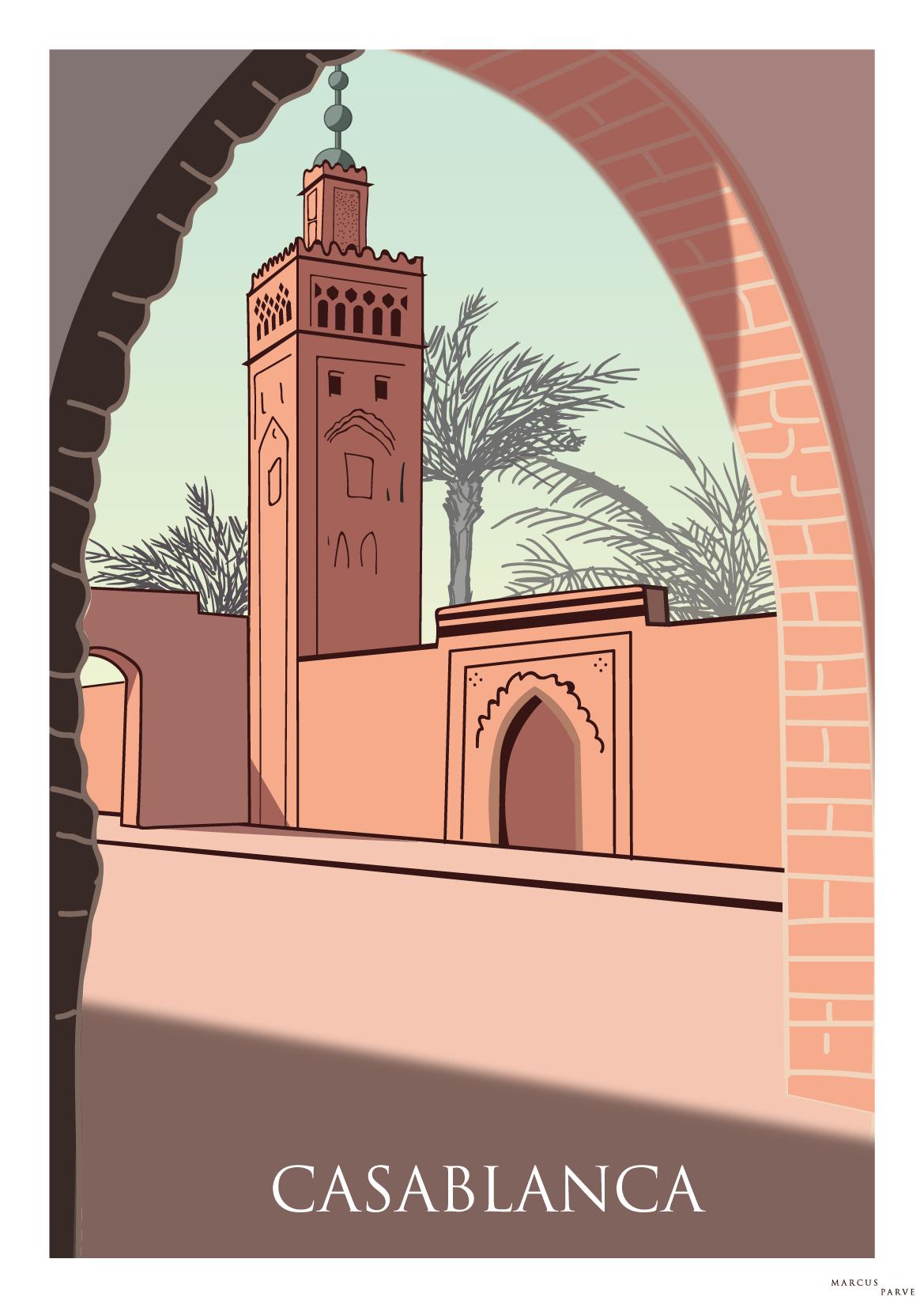 Vintage Casablanca poster. Poster for lovers of Casablanca