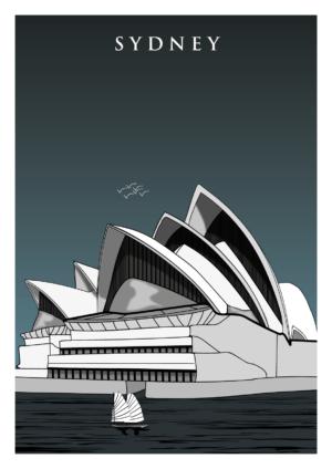 affiche métal sydney opéra